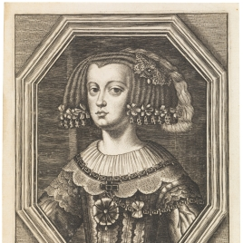 La reina doña Mariana de Austria (detalle)
