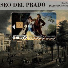 Tarjeta Telefónica que reproduce cuadros de Goya emitida con motivo del 175 aniversario del Museo del Prado y Día Internacional de los Museos