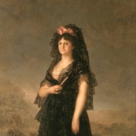 La reina María Luisa con mantilla