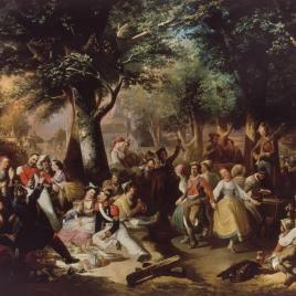 Baile en la Virgen del Puerto