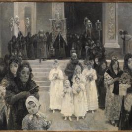 Una procesión en el mes de María