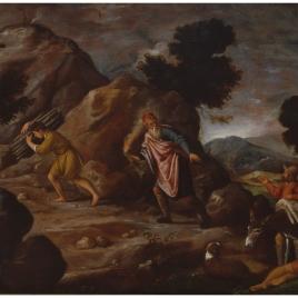 Abraham e Isaac camino del sacrificio