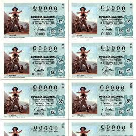 Capilla de billete de Lotería Nacional para el sorteo de 12 de mayo de 1972