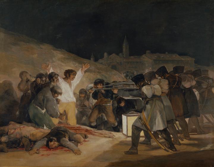 <p><em>El 3 de mayo de 1808 en Madrid: los fusilamientos en la montaña del Príncipe Pío</em>, antes de su restauración</p>