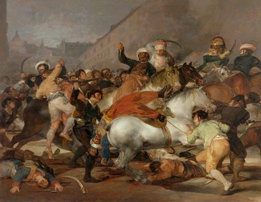 <p><em>Dos de mayo de 1808 en Madrid</em>. Después de la restauración</p>