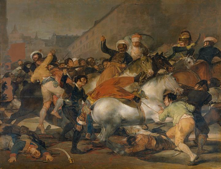 <p><em>El 2 de mayo de 1808 en Madrid</em>, antes de su restauración</p>