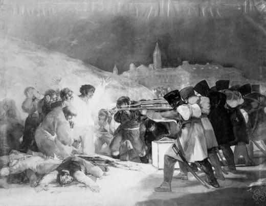 <p><em>El tres de mayo</em>, Francisco de Goya (fotografía)</p>