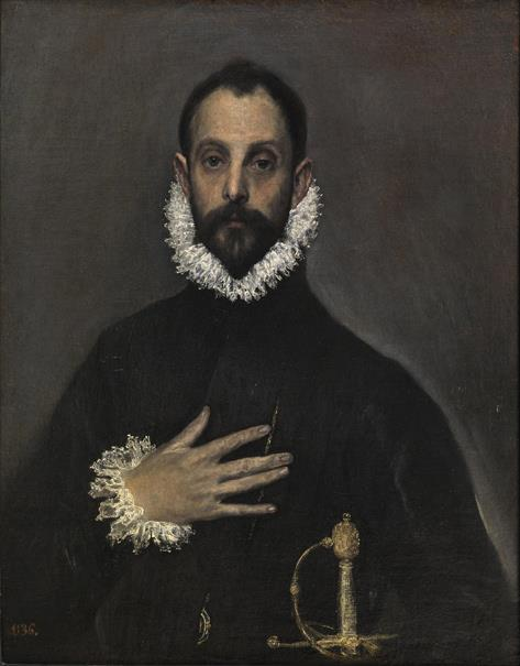 El caballero de la mano en el pecho (reproducción fotográfica)