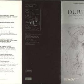 Durero: obras maestras de la Albertina : cursos monográficos /Museo Nacional del Prado.