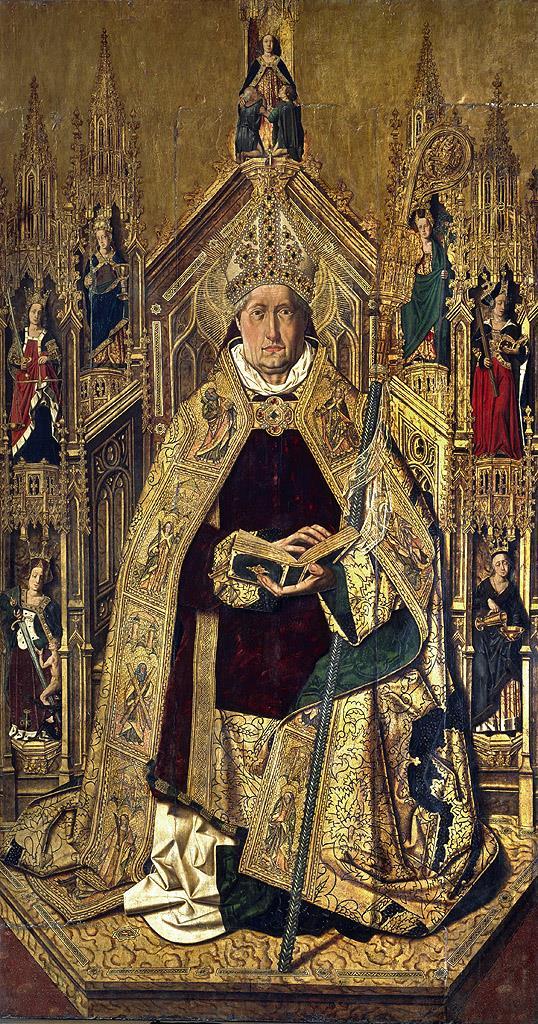 Santo Domingo de Silos entronizado como obispo [Bartolomé Bermejo]