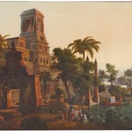 La hija del Faraón sacando del Nilo a Moisés