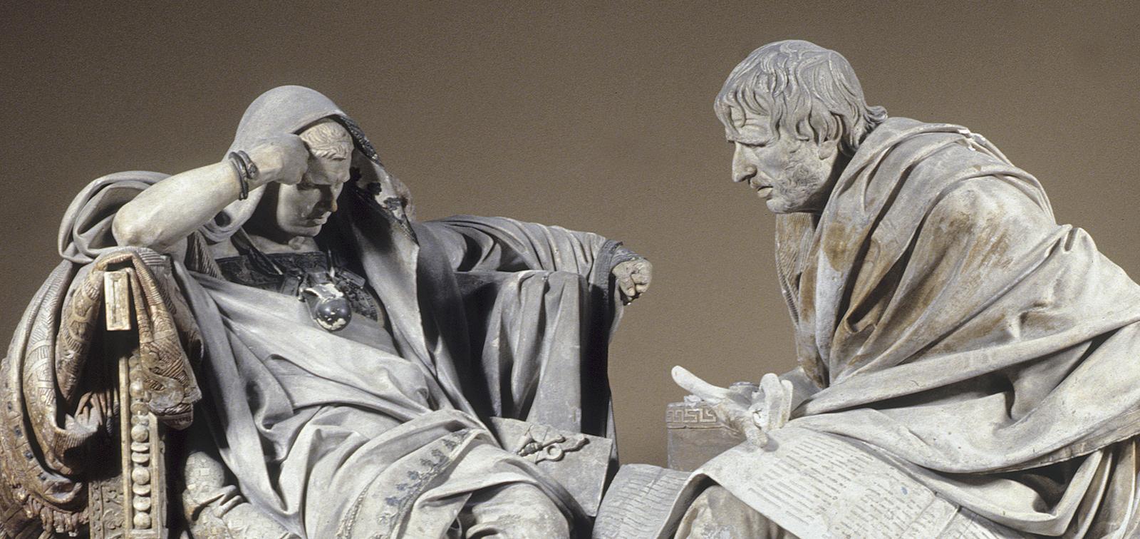 Temporary Installation: Nero and Seneca by Eduardo Barrón