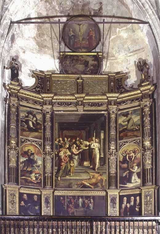 <p>Ubicación original del cuadro. Retablo de la Capilla del Mariscal en la Catedral de Sevilla</p>