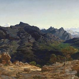 La sierra de las Agujas, tomada desde la loma del Cavall-Bernat