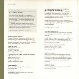 Actividades : abril 2010 : área de educación : calendario de abril 2010 / Museo Nacional del Prado.