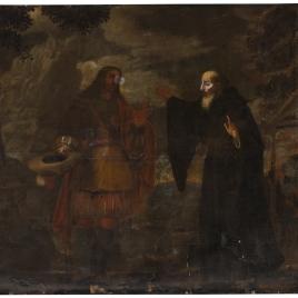 San Agustín recibe a Cristo peregrino
