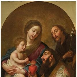 La Sagrada Familia y san Agustín
