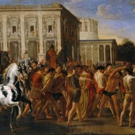 Entrada triunfal de Constantino en Roma