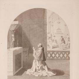 El padre Bernardo rezando en la cartuja de Portes