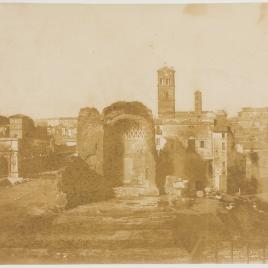 Vista del Foro con el Templo de Venus, Roma