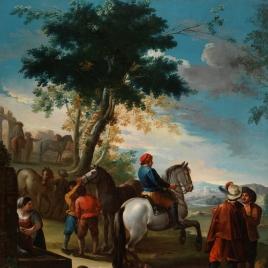 Un mercado de caballos