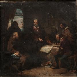 Cristóbal Colón en el convento de la Rábida (boceto)