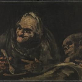 Two Old Men eating