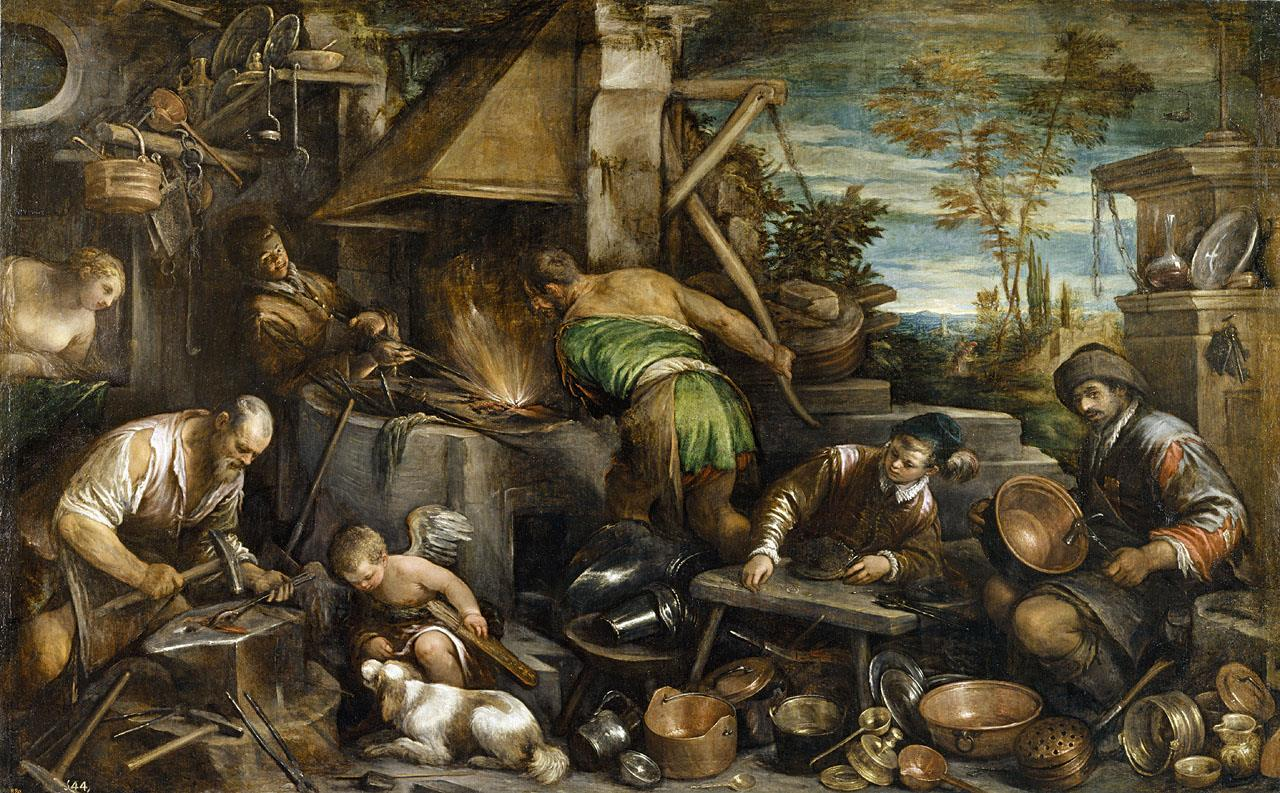 Fragua de Vulcano, La [Jacopo Bassano]