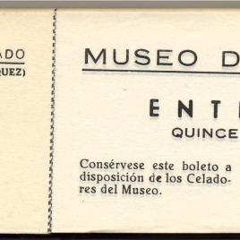 Taco de billetes de entrada al Museo del Prado [anterior a 1970]