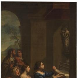 San Cayetano ofrecido a la Virgen por su madre