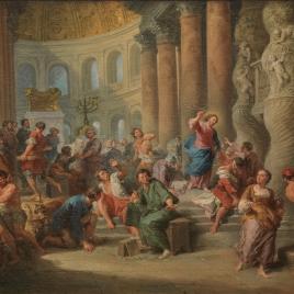 Jesús arroja a los mercaderes del Templo