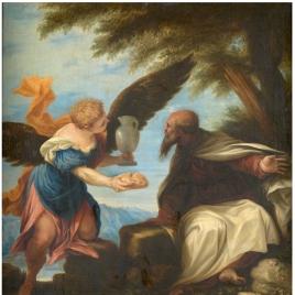 El profeta Elías y el ángel