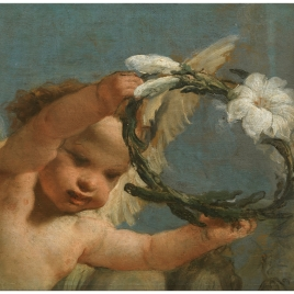 Angel with a Crown of Lilies