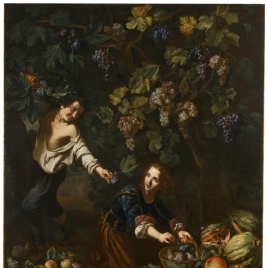 Niños cogiendo fruta