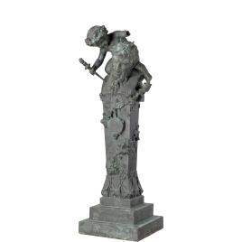 Dios Pan en forma de Herma con Baco