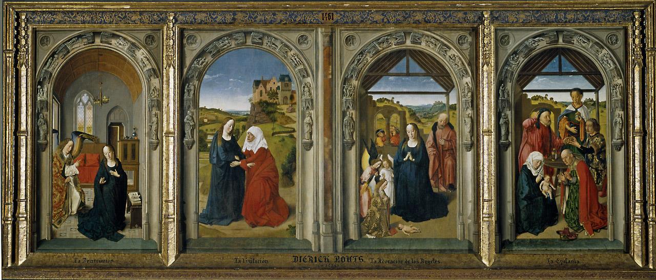 Tríptico de la vida de la Virgen [Dirk Bouts]