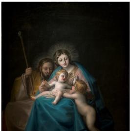 La Sagrada Familia con san Juan Bautista niño
