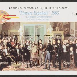 Serie de sellos Pintura Española. Antonio María Esquivel