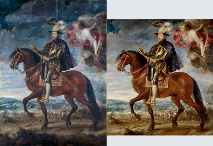 The Restoration of Philip II on Horseback by Rubens