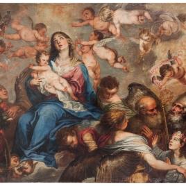 La Virgen con santos