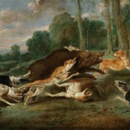 Jabalí acosado (La caza del jabalí)
