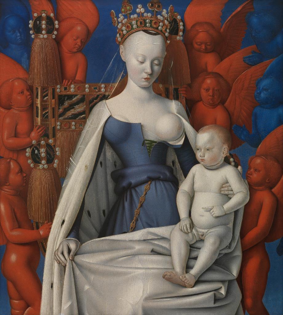 El Museo del Prado exhibe por primera vez en España La Virgen con el Niño y ángeles de Jean Fouquet
