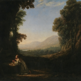 Landscape with Saint Mary of Cervelló