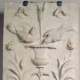 Pilaster with Tendrils and Birds