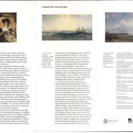 Turner y los maestros = Turner and the masters / Museo Nacional del Prado.