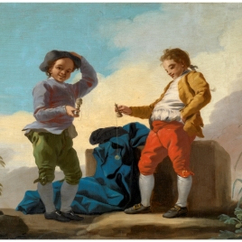 Muchachos jugando al boliche