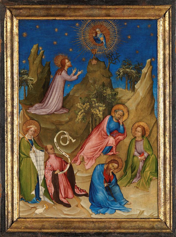 Restauración de La Oración en el huerto con el donante Luis I de Orleans