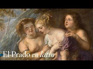 """""""Diana and Callisto"""" by Rubens with comments in Latin"""