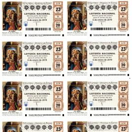 Capilla de billete de Lotería Nacional para el sorteo de 6 de enero de 2019