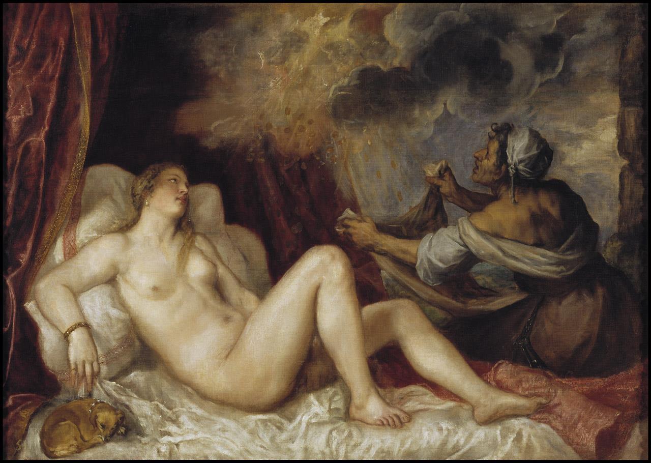 Dánae recibiendo la lluvia de oro [Tiziano]